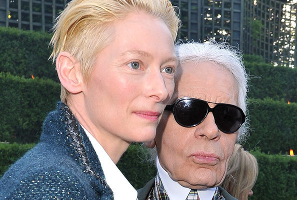 Tilda Swinton is Teaming Up With Karl Lagerfeld
