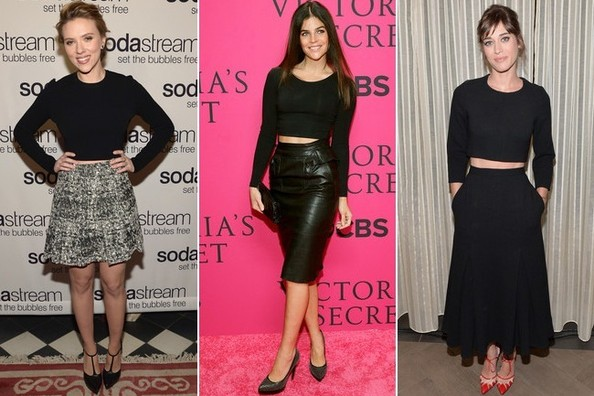 Now Trending: The Black, Long-Sleeved Crop Top