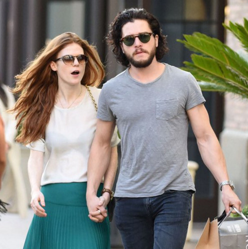 Did kit harington dating rose leslie