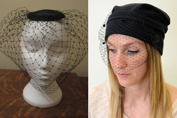 Now Trending: Black Birdcage Veil Hats