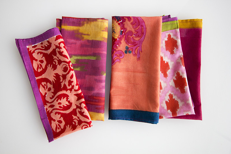 Handmade handkerchiefs by Lisa Corti, available at John Derian