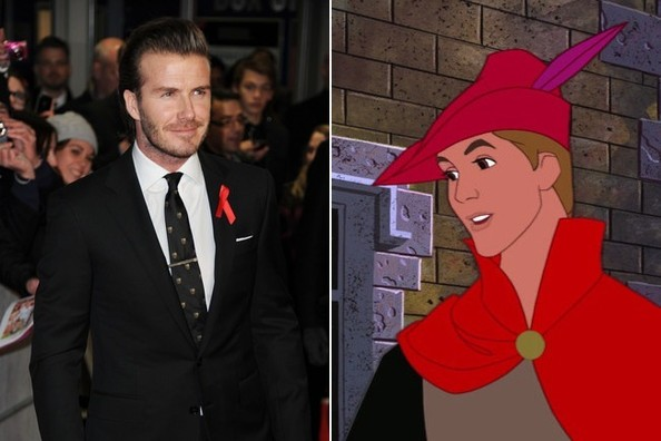 David Beckham + 'Sleeping Beauty'