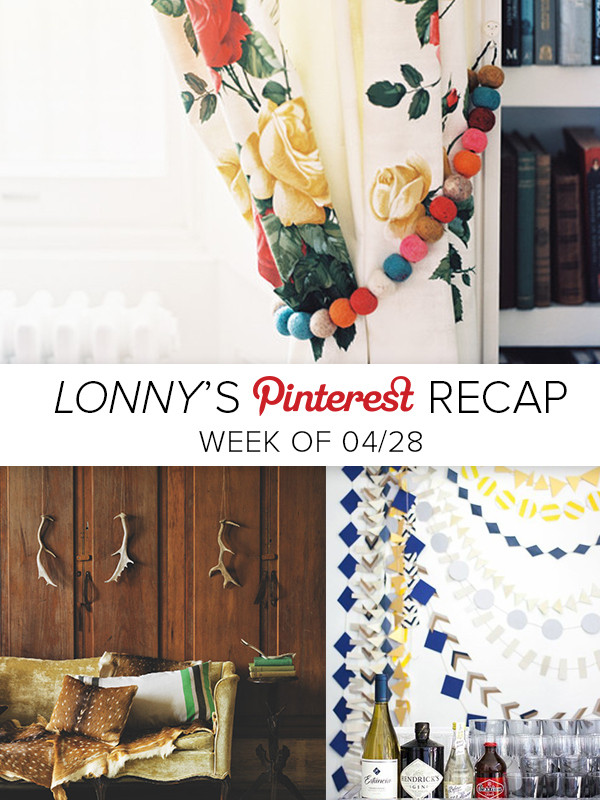 Lonny's Top Pins of the Week