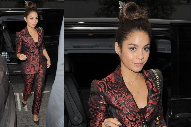 Vanessa Hudgens Is All Business in Brocade