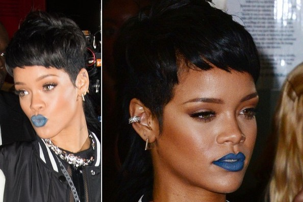 OK, So, Is Blue Lipstick Going to Happen? (Probably, Since Rihanna's Wearing It!)