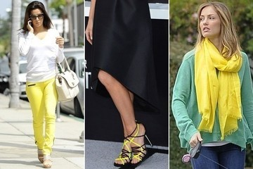 Celebrity Trend Alert: Highlighter Yellow