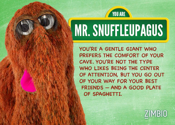 Mr. Snuffleupagus - Which u0026#39;Sesame Streetu0026#39; Character are You? - Zimbio