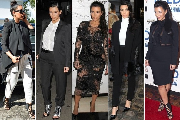 Kim K's Maternity Style: Black and White