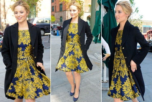Look of the Day: Dianna Agron's Sunflower Sweetness