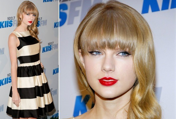 Taylor Swift's Holiday Stripes