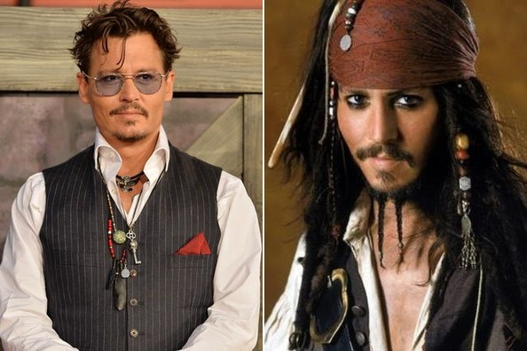 Hotter in Costume or in Real Life  sc 1 st  Zimbio & Johnny Depp vs. Jack Sparrow in u0027Pirates of the Caribbeanu0027 - Hotter ...