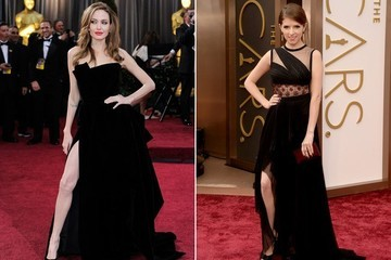 Angelina Jolie's Oscar Leg Had a Baby and It Belongs to Anna Kendrick