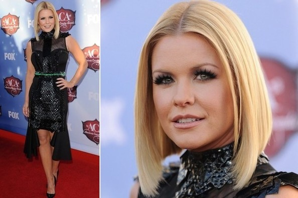 Carrie Keagan's Sparkly Black Number