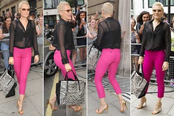 Found: Jessie J's Gorgeous Gold Ankle-Strap Sandals