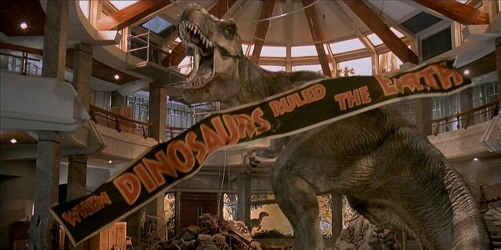 Image result for images of jurassic park t. rex is loose
