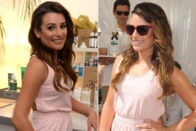 Hair Envy Of The Day: Lea Michele's Peek-a-Boo Braid