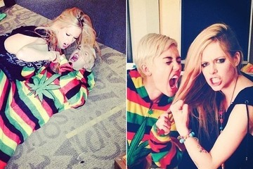 Miley Cyrus and Avril Lavigne Got Into a NSFW Fight Over Canadian Fame... on Instagram