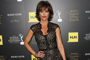 Lisa Rinna in floor-length black lace - Best and Worst Dressed at the 2012 Daytime Emmys