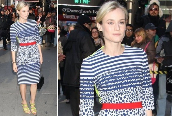 Diane Kruger's Neon and Stripes