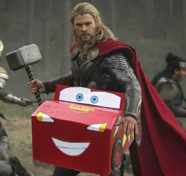 Thor in a Racecar - Halloween Costume Inspiration from the Movies ...