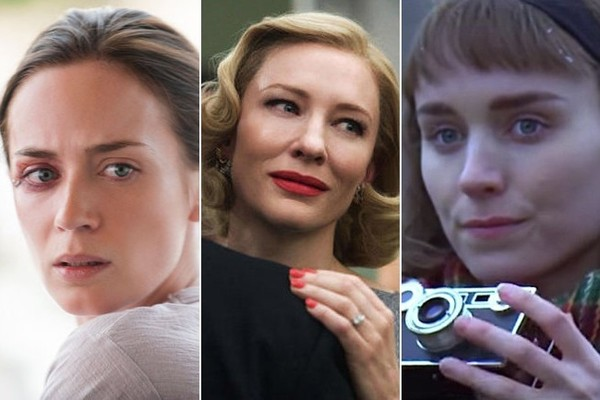 (L-R) Emily Blunt in Sicario, Cate Blanchett in Carol, Rooney Mara in Carol. (Photos: Lionsgate, The Weinstein Co.)