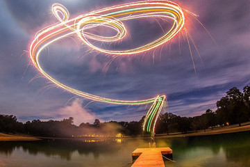 A Photographer's Experiment with Fireworks and a Drone Yields Awesome Results