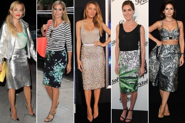 Celebrity Trend Alert: Statement Pencil Skirts