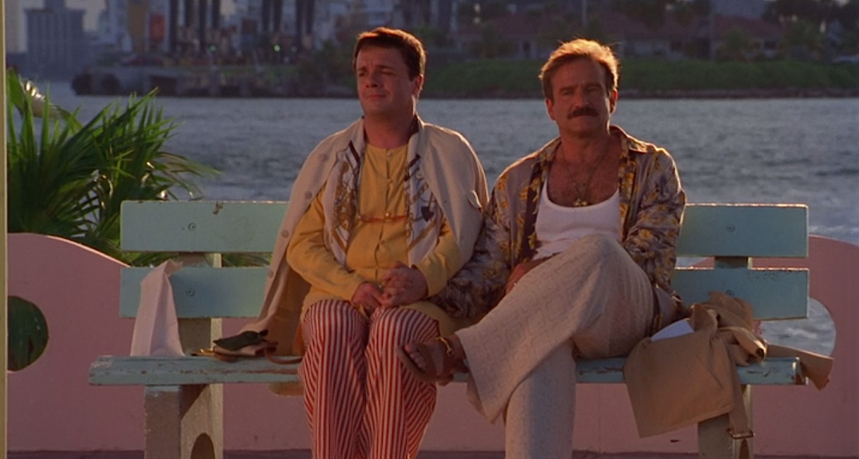 Nathan Lane and Robin Williams in The Birdcage. (United Artists)