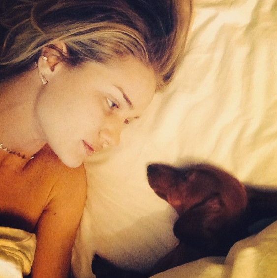 Rosie Huntington-Whiteley wakes up to someone other than Jason Statham.