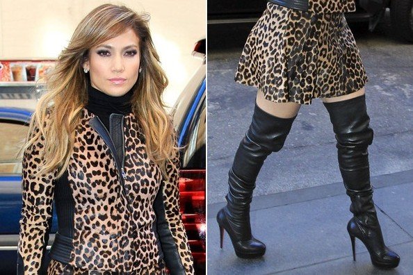 Jennifer Lopez Gets Fierce in Leopard and Leather