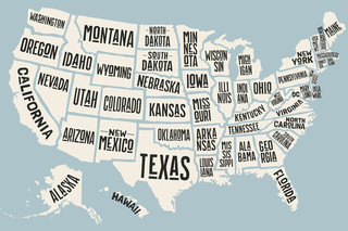 How Many States Can Can You Name Based on the Outline?