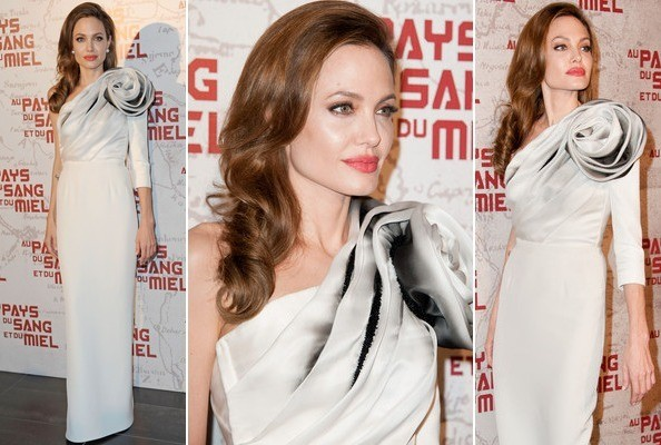 Look of the Day: Angelina Jolie's Rose Dress