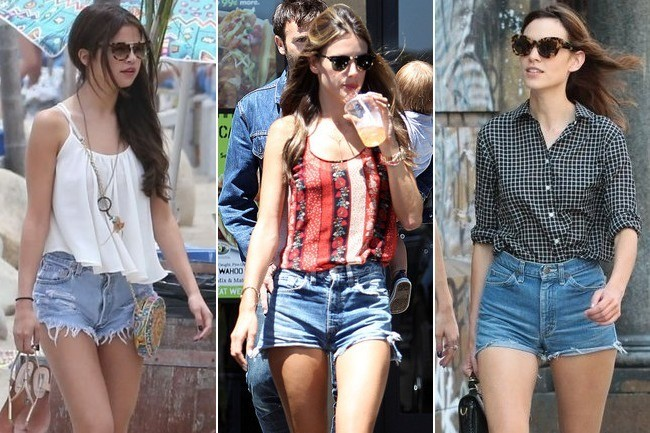 Who Wore the Cutest Cut-Off Shorts Outfit: Selena, Alessandra, or Alexa?