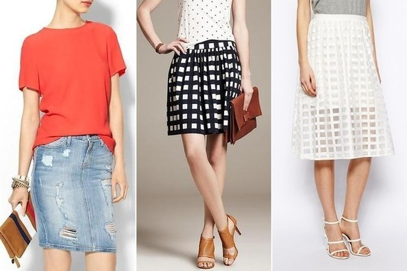 Easy Outfit Upgrade: Pair a T-shirt with a Full Skirt