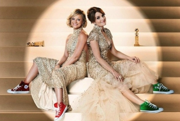 Amy Poehler and Tina Fey Pull a Kristen Stewart, Wear Converse with Gowns