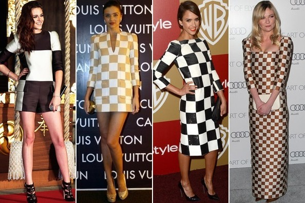 Who Wore Louis Vuitton Checkers Best?