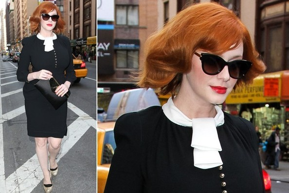 Christina Hendricks' Figure-Flattering Tailored Dress