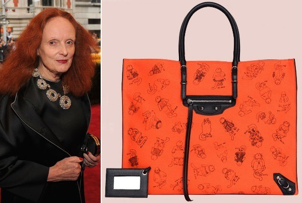 d1FrJvVNc5Dl Grace Coddington Designed a Balenciaga Handbag Inspired by Her Cat Pumpkin