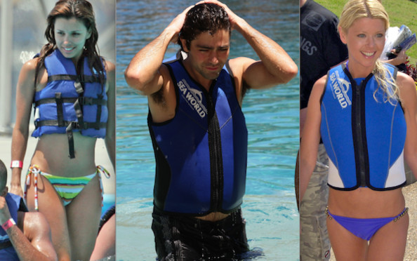 Celebrities Swimming With Dolphins