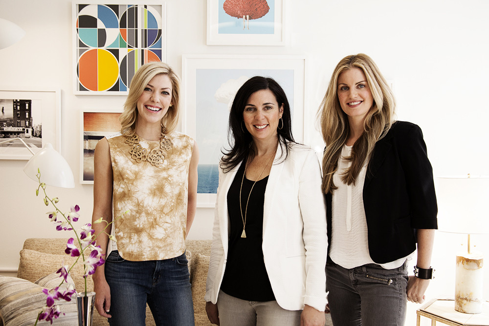 Good things come in threes. From left: Viyet's CEO, Elizabeth Brown; VP of Marketing, Jennifer Koen; and Co-founder and Chief Curator, Louise Youngson-Klasfeld.