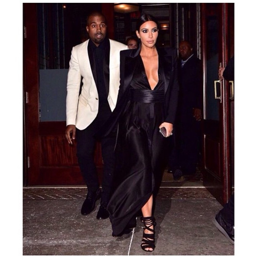 Kim and Kanye had a date night.