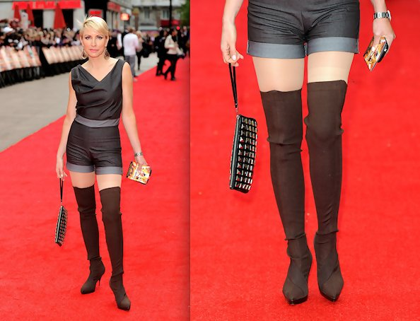 Heather Mills Dares To Wear Over The Knee Boots Over The