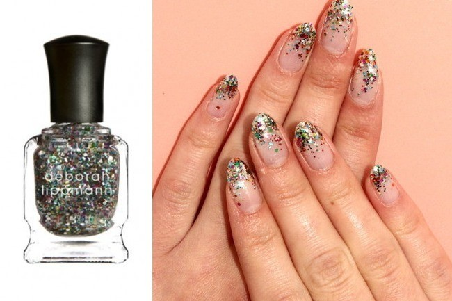 This Glittery Manicure is Like a Party for Your Nails