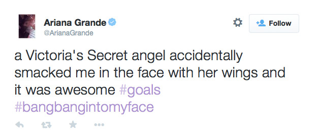 Ariana Grande Got Smacked with a Wing and Won the Victoria's Secret Fashion Show