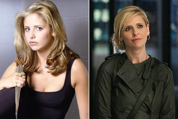 Resultado de imagem para sarah michelle gellar buffy now and then