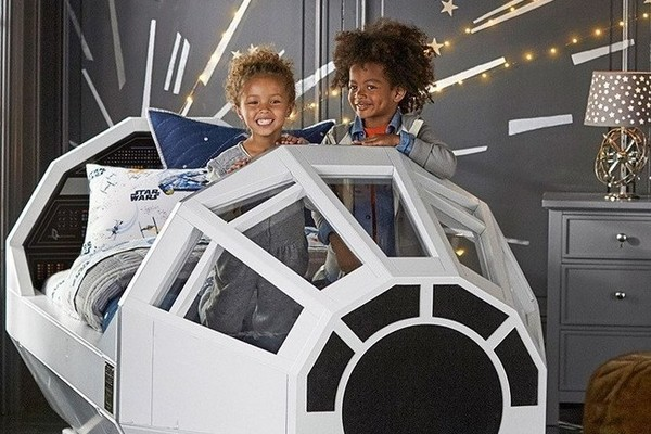 Damn The Millennium Falcon Bed From Pottery Barn Cost