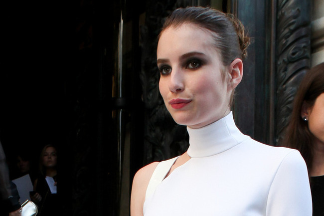 Emma Roberts' Little White Versace Dress