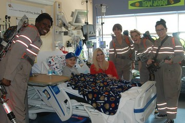 The 'Ghostbusters' Cast Visited a Boston Children's Hospital in Full Gear