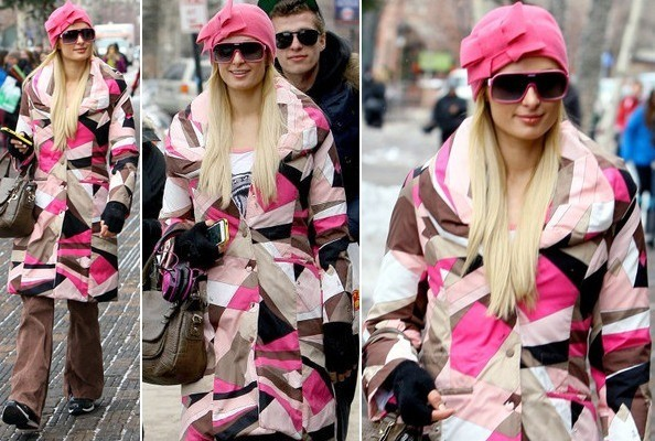 Hot or Not: Paris Hilton's Pink Winter Ensemble