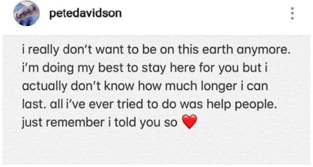 Pete Davidson's Latest Post Makes Me Wonder When We Went From Followers To Tyrants